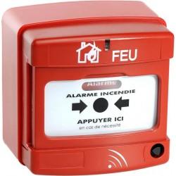 Déclencheur manuel d'alarme incendie radio