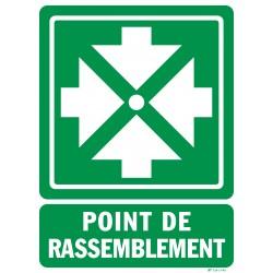 """Panneau """"POINT RASSEMBLEMENT"""""""