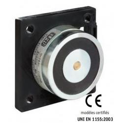 Ventouse électromagnétique à rupture 24 Vdc nue (ABS ou acier galvanisé)