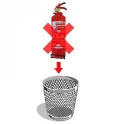 Destruction extincteurs 2 kg poudre ou eau
