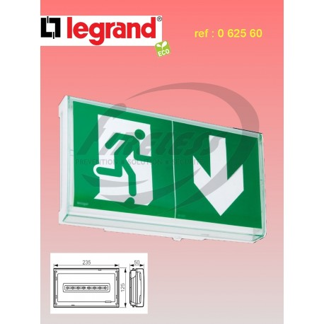 Bloc de secours BAES+BAEH d'évacuation ECO² Legrand SATI