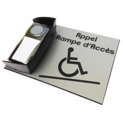 Kit carillon d'appel DESIGN pour rampe d'accès mobile - horizontal