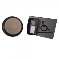 Kit carillon d'appel pour rampe d'accès mobile en relief gris - sans braille