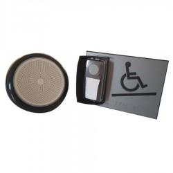 Kit carillon d'appel pour rampe d'accès mobile en relief gris - avec braille