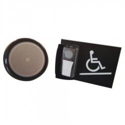 Kit carillon d'appel pour rampe d'accès mobile en relief noir - sans braille