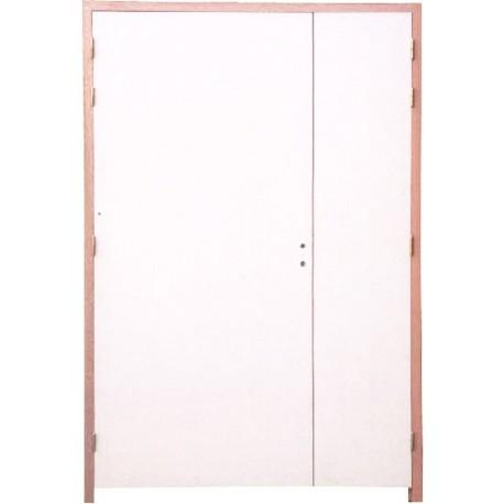 Bloc Portes EI60 204 x 93+53 mm droite - Huisserie bois double vantaux