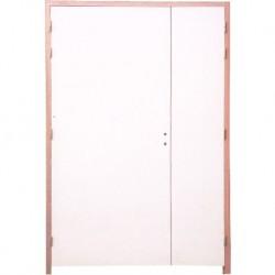 Bloc Portes EI60 204 x 93+53 mm gauche - Huisserie bois double vantaux égaux ou inégaux (tiercés)
