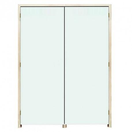 Bloc Portes EI60 204 x 83+83 mm gauche - Huisserie bois double vantaux égaux ou inégaux (tiercés)