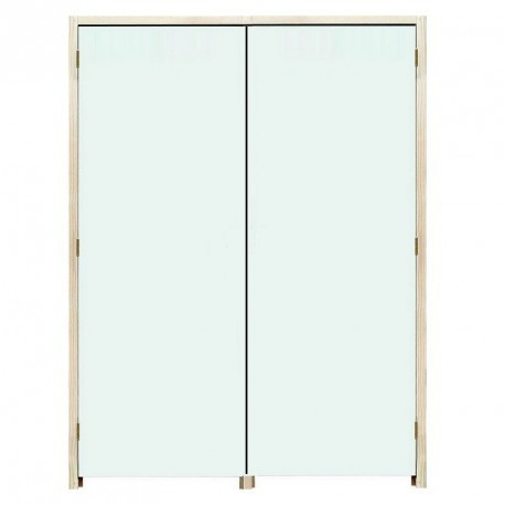 Bloc Portes EI60 204 x 93+93 mm gauche - Huisserie bois double vantaux égaux ou inégaux (tiercés)