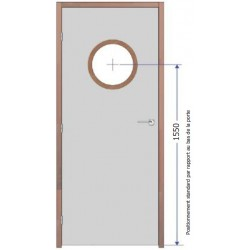 Fourniture et pose d'oculus Vitrage Pyrobel 25 - diamètre 300 mm EI60