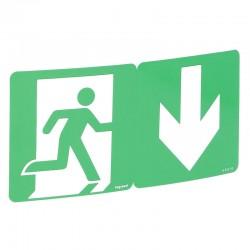 Etiquette de signalisation d'évacuation