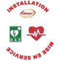 Installation et Mise en Service de 2 Défibrillateurs et Pose de la Signalétique