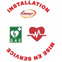 Installation et Mise en Service de 3 Défibrillateurs et Pose de la Signalétique