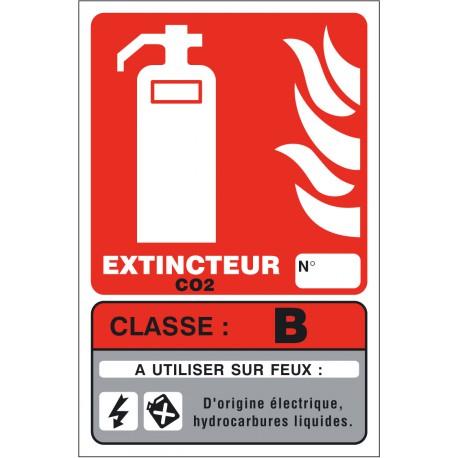 Panneaux Extincteur Classe B 125X190