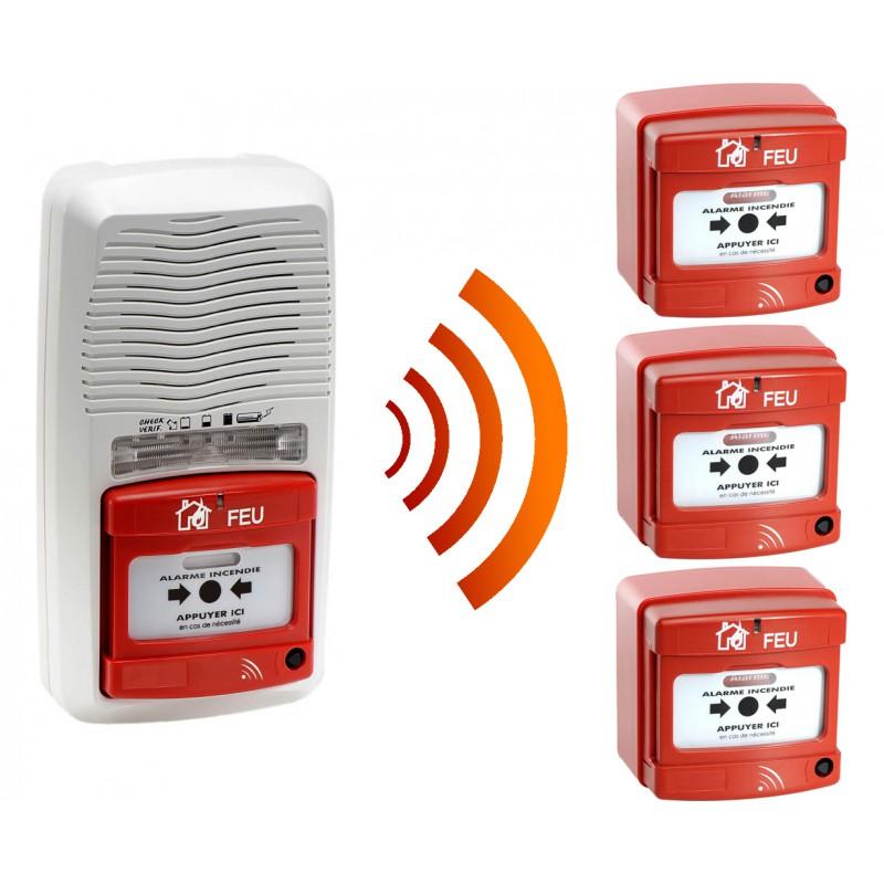 alarme type 4 radio avec flash 3 d clencheur manuel d 39 alarme incendie radio fireless. Black Bedroom Furniture Sets. Home Design Ideas