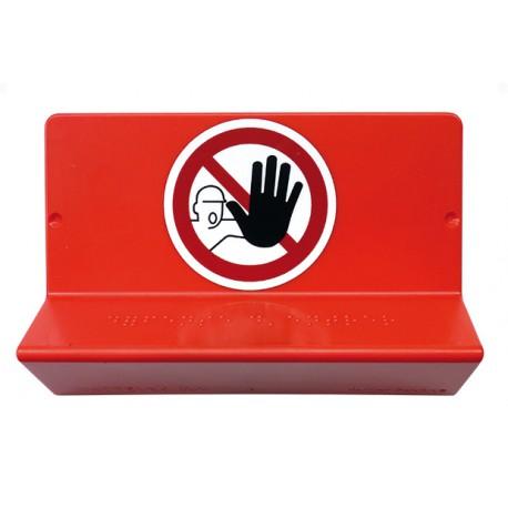 """Signalisation en braille """"accès interdit"""""""
