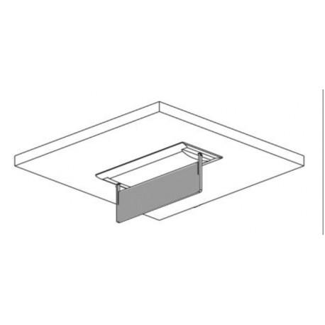 Porte étiquette encastré plafond