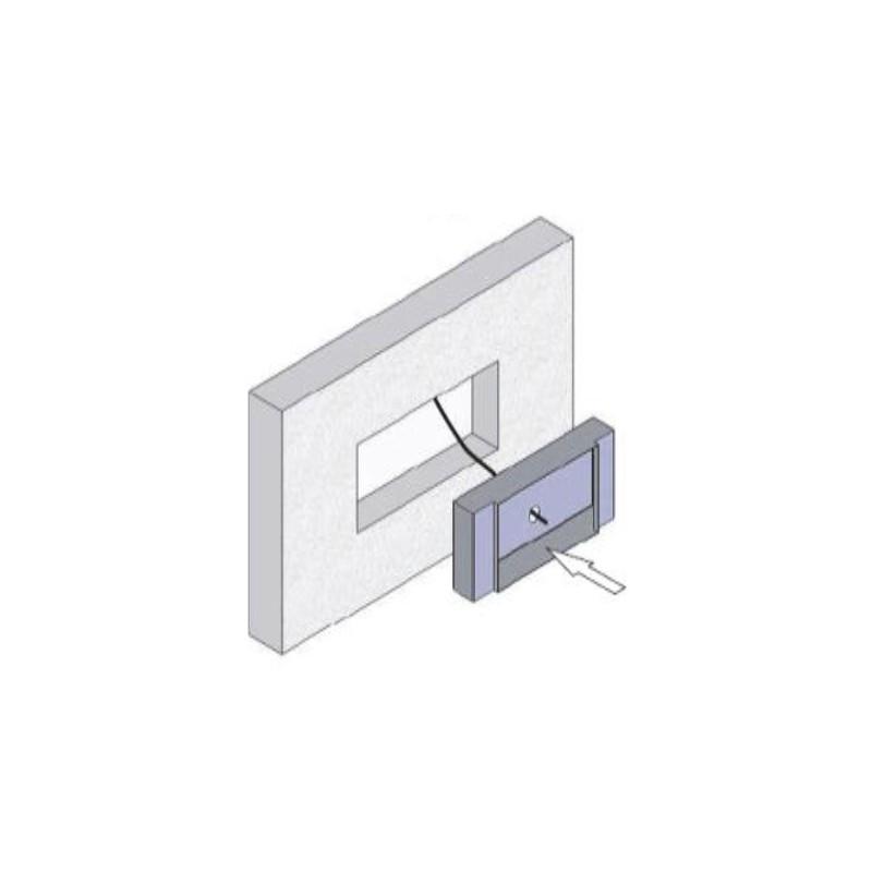 accessoire encastrement b ton fireless. Black Bedroom Furniture Sets. Home Design Ideas