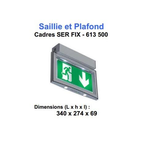 CADRE SERENGAPOSE SAILLIE ET PLAFOND+PICTOGRAMMES