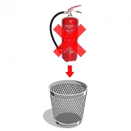 Destruction extincteurs  6 kg poudre ou eau