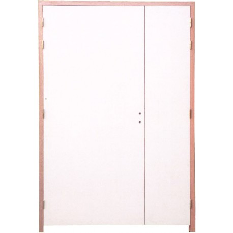 Bloc porte 2 vantaux 204x93 53 ei60 fireless for Porte double vantaux interieur