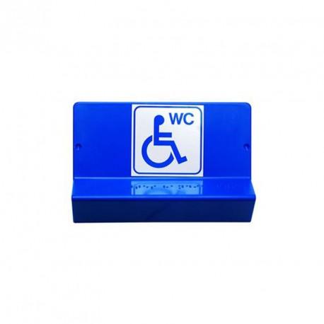 Support de signalisation symbole WC PMR et braille