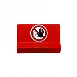 upport de signalisation symbole défense d'entrer et braille.