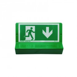 Support de signalisation symbole issue de secours et braille