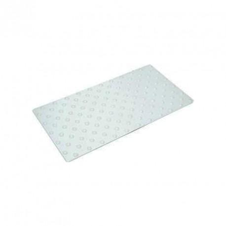 Plaque podotactile en polyuréthane blanc en 825 x 420 mm à coller extérieur