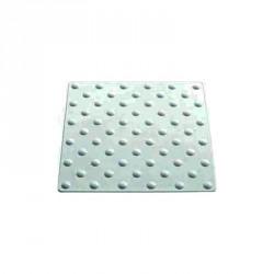 Plaque podotactile en polyuréthane blanc en 450 x 420 mm à coller extérieur