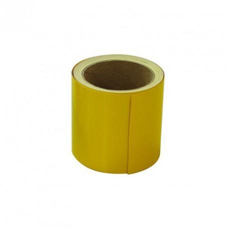Repérage des contremarches adhésif jaune en 10 m x 100 mm