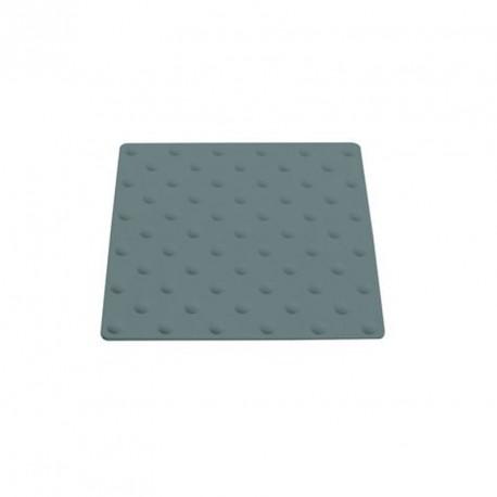 Plaque podotactile en polyuréthane gris en 450 x 420 mm à coller extérieur