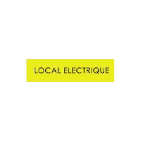 Plaques signalétiques local électrique