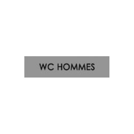Plaques signalétiques WC Hommes