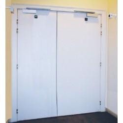 Portes FLDAS D32SG 204x83+83 - EI30 Bandeau Ferme-porte
