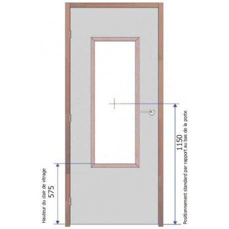 Fourniture et pose d'oculus Vitrage Pyrobel 16 - 1200x400 mm EI30