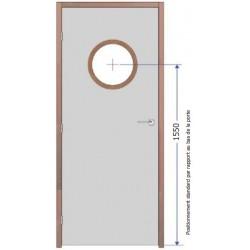 Fourniture et pose d'oculus Vitrage Pyrobel 16 - diamètre 300 mm EI30
