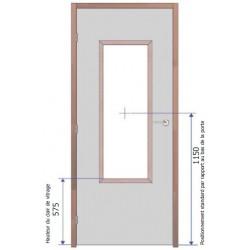 Fourniture et pose d'oculus Vitrage Pyrobel 25 - 1200x400 mm EI60