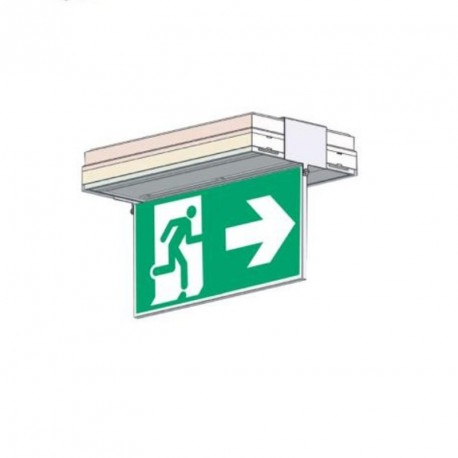 Porte sérigraphie saillie plafond double face flèche dte et gche
