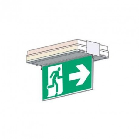 Porte sérigraphie saillie plafond simple face flèche droite