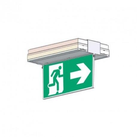 Porte sérigraphie saillie plafond double face flèche bas