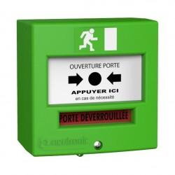 Déclencheur Manuel vert 1 contact