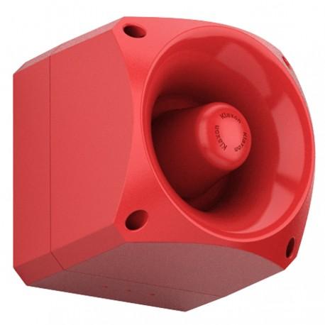 Diffuseur sonore forte puissance industrielle rouge 109dB étanche IP66