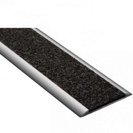 Profil plat polymère noir 150 x 5 cm