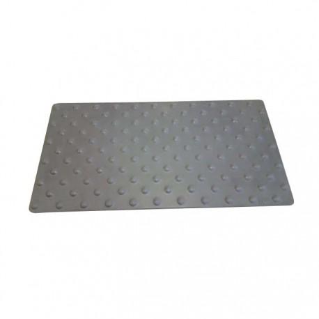 Dalle podotactile en polymère avec adhésif épais gris 412 x 825 mm