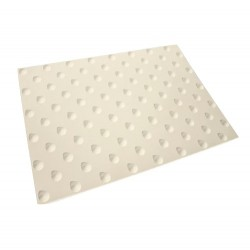 Dalle podotactile WATLEX Compound Vinylique blanc 420 x 825 mm