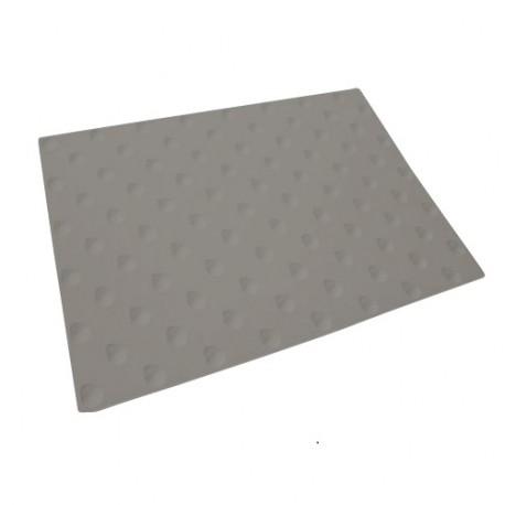Dalle Podotactile Auto-adhésive extérieure Butyl Watlex gris 445 x 400 mm