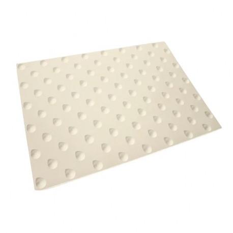 Dalle Podotactile Auto-Adhésive extérieure Butyl Watlex blanc 445 x 400 mm