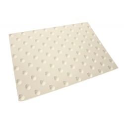 Dalle Podotactile Auto-Adhésive extérieure Butyl Watlex blanc 815 x 400 mm