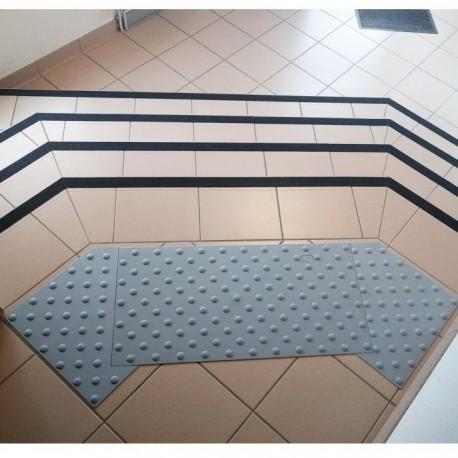 Dalle podotactile auto-adhésive grise Watelin intérieure 1350 x 400 mm
